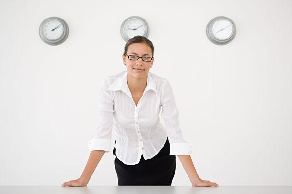 woman in meeting room