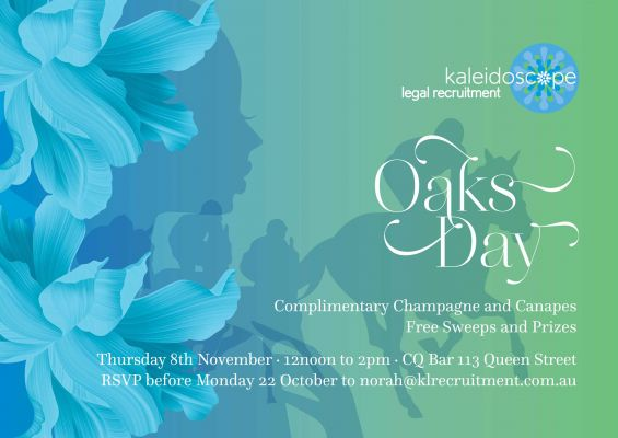 Kaleidoscope Legal Recruitment oaks day invitation